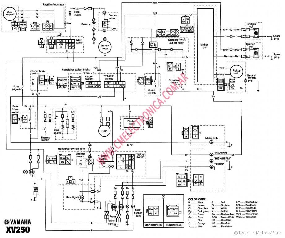 Elektro Sch U00e9ma K Yamaha Xv 125 Virago    Motork U00e1 U0159sk U00e9 F U00f3rum